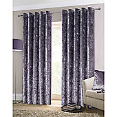 Rapport Crushed Velvet Eyelet Curtains - Amethyst