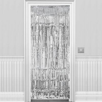 Buy Silver Metallic Door Curtain - 2.4m from our All Party ...