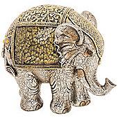 Multan - Indian Elephant Decorative Crackle Ornament - Gold