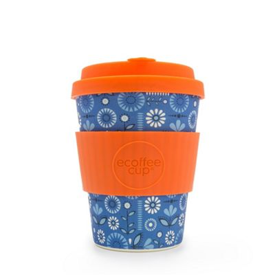 Ecoffee Cup Dutch Oven with Orange Silicone 12oz