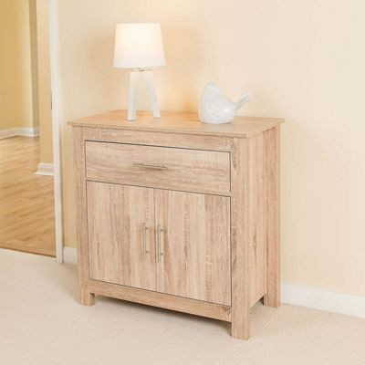 Christow Oak Effect 2 Door 1 Drawer Sideboard