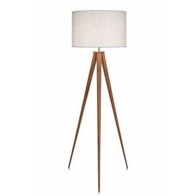 Versanora romanza tripod floor lamp with white shade