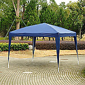 Outsunny 3 x 3m Garden Pop Up Gazebo Foldable Canopy UV Protection + Carry Bag (Blue)