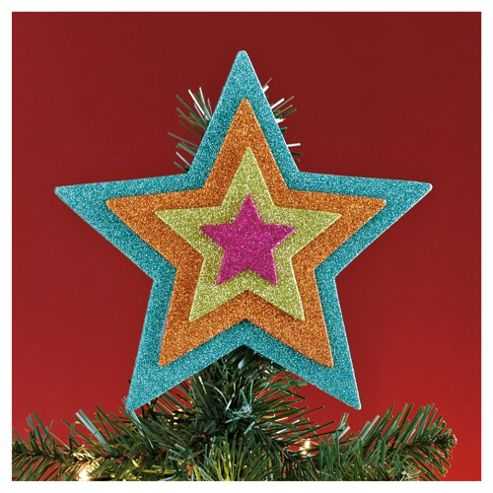 Tesco Bright Glitter Christmas Tree Topper
