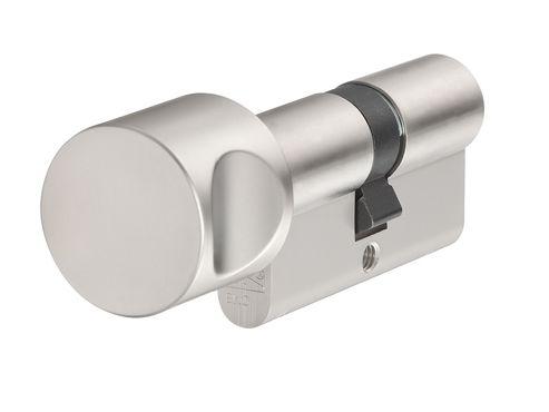 ABUS Mechanical KE60NP Euro Thumbturn Cylinder Nickel Pearl Z45mm / K30mm Box