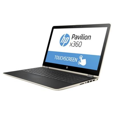 HP Pavilion X360 15.6 inch Windows 10 Pentium 2 in 1 Laptop Tablet 4GB RAM 500GB HDD - Gold