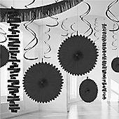 Decorations Black Paper & Foil Room Decorating Kit