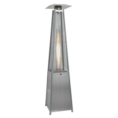 Bermuda Outdoor Furniture Quartz Glass Tube Real Flame Heater- Stainless Steel