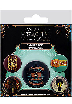 Fantastic Beasts and Where to Find Them Badge Pack 10x12.5cm - Multi