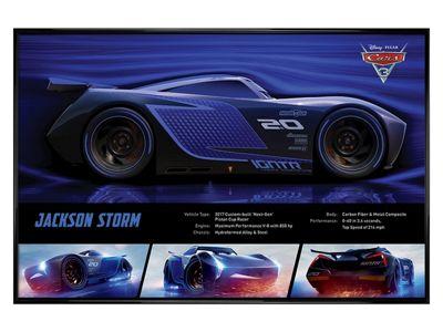 Cars 3: The Movie Gloss Black Framed Jackson Storm Stats Poster 61 x 91.5cm