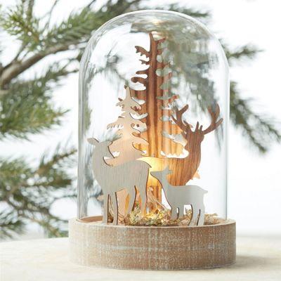 Light Up Glass Dome Christmas Decoration