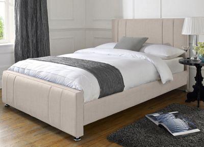 Snug City Single Cream Upholstered Bed Frame Knightsbridge Design Made In the UK