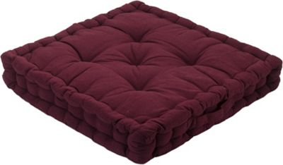 Maroon Seat Pad Cushion Booster 100% Cotton Cover Extra Thick 10cm