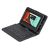 Linx 7 Micro USB Faux Leather Keyboard Case Cover with Stylus