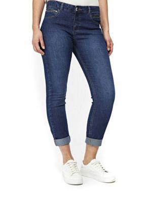 Wallis Petite Scarlet Roll Up Jeans Denim 12