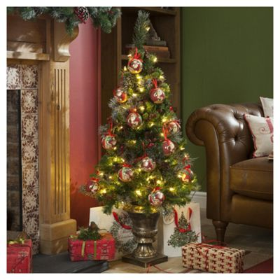 Buy 4ft Pre Lit Christmas Tree, Potted (100 white LEDs) from our Christmas Trees range - Tesco