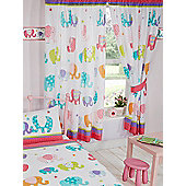 Patchwork Elephant Lined Curtains 72""