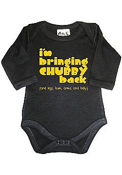 Dirty Fingers I'm bringing Chubby back Baby LS Bodysuit - Black
