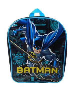 Batman 'Power' Pvc Front School Bag Rucksack Backpack