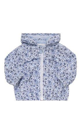 F&F Shower Resistant Ditsy Floral Jacket Blue/White 3-6 months