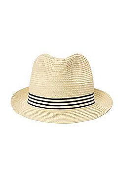 Mountain Warehouse Trilby Mens Straw Hat - Beige