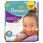 Pampers Active Fit Size 5+ Large Pack - 45 nappies