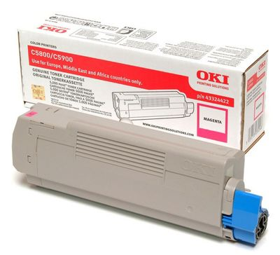 OKI Toner Cartridge for C5800/C5900 Colour Printers (Magenta)