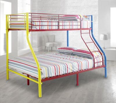 Buy Happy Beds Rainbow Triple Sleeper Bunk Bed Metal Kids 2x Pocket