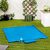 Gardenista Turquoise Water Resistant Roll Up Picnic Mat with carry Handle