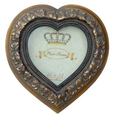 Heart frame Mirror Gold 3 x 3