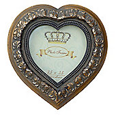 Heart frame Mirror Gold 3 x 3