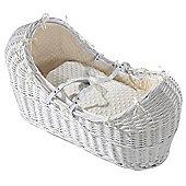 Isabella Alicia White Izzy-Pod Moses Basket (Dimple Cream)