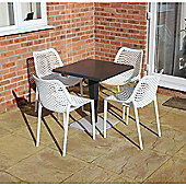 Brackenstyle Madrid Pedestal Table and 4 Tropical White Orion Chairs - Seats 4