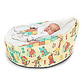Gaga Cuddlesoft Pre-filled Baby Bean bag - Soft patchwork Animals