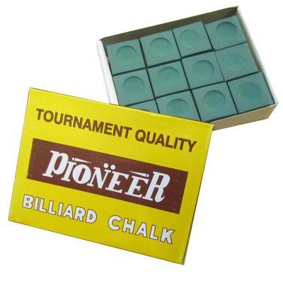 Pioneer Billard Chalk (12 Pieces) - Chalk Colour : Green