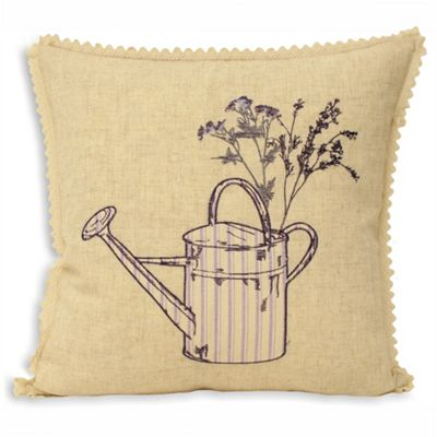 Riva Home Watering Can Lavender Cushion Cover - 45x45cm