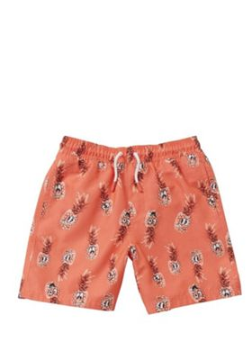 Regatta Pineapple Print Swim Trunks Coral 5-6 years