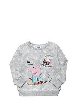 Peppa Pig Snowflake Sweatshirt - Grey