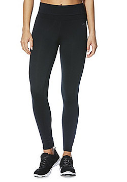 F&F Active Zip Ankle Leggings - Black