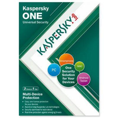 Kaspersky Lab One Uni Security (3 Device 1 Year) (UK) (KL1931UXCFS)