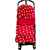 Snuggle Buggy footmuff Fit Buggy Puschair Baby Red Star