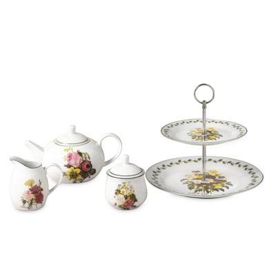4pc Spring Posy Tea Set