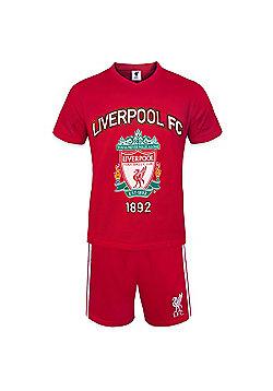 Liverpool FC Mens Short Pyjamas - Red