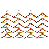 Harbour Housewares Pack of 20 Natural Childrens Wooden Clothes / Coat Hangers