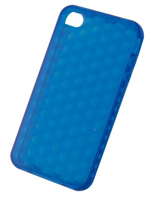 Tortoise™ Soft Gel Case iPhone 4/4S Raindrop Blue
