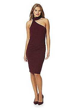 AX Paris Cut-Out Choker Bodycon Dress - Burgundy