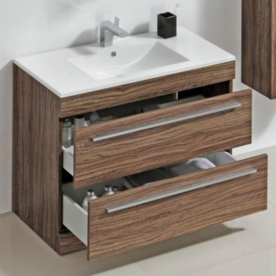 Buy prestige oslo floor mounted vanity unit built in for Bathroom cabinets 800mm high
