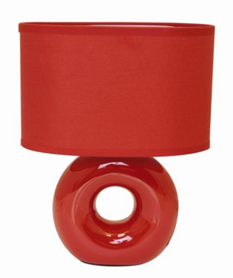 Home Essence Polo Ceramic 40W Table Lamp in Red