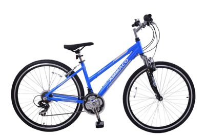 Ammaco CS150 Womens 700c Front Suspension Hybrid Bike 16
