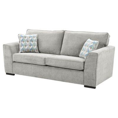Boston Large 3 Seater Sofa, Light Grey